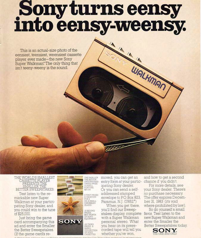 Sony Walkman ad - 1983