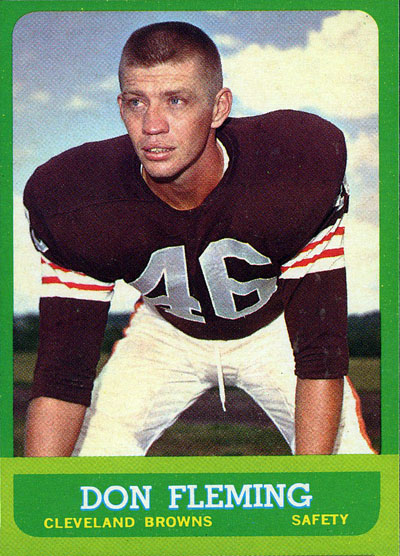 Don Fleming 1963 Topps football card