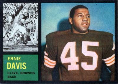 Ernie Davis 1962 Topps football card