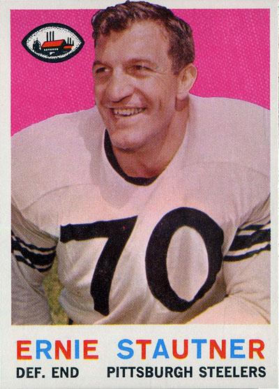 Ernie Stautner 1959 Topps football card