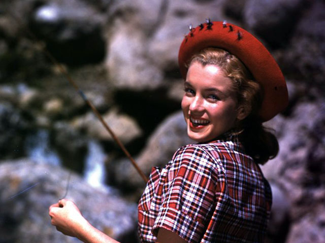 Vintage Photo Wednesday, Vol. 32: Marilyn Monroe Goes Fishing, c. 1946