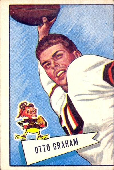 Otto Graham 1952 Bowman football card