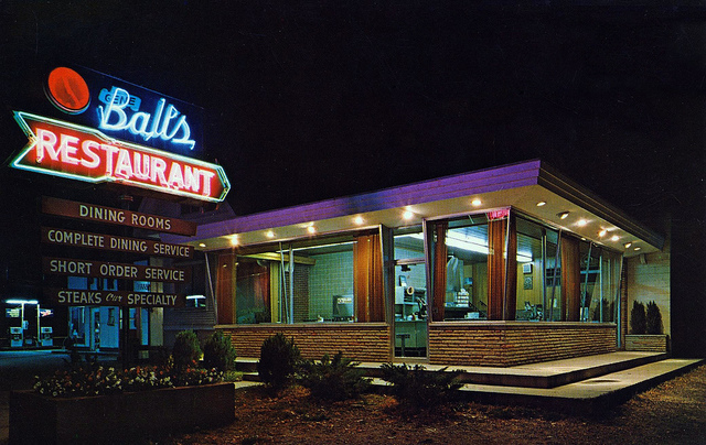 Cardboard America: Gene Ball's Restaurant — Point Pleasant, WV