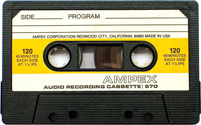 Blank audio cassette tape (Ampex)