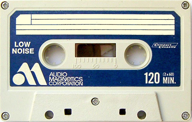 Blank audio cassette tape (Audio Magnetics)