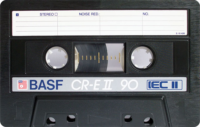 Blank audio cassette tape (BASF)