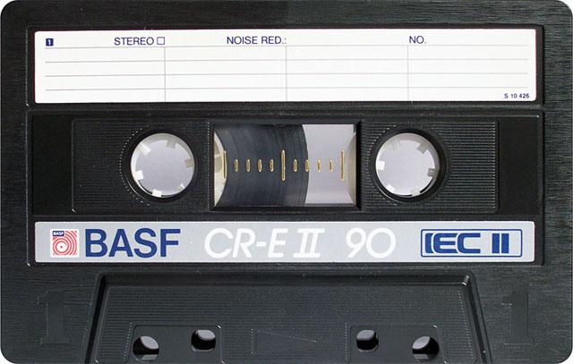 Blank audio cassette tape (BASF)
