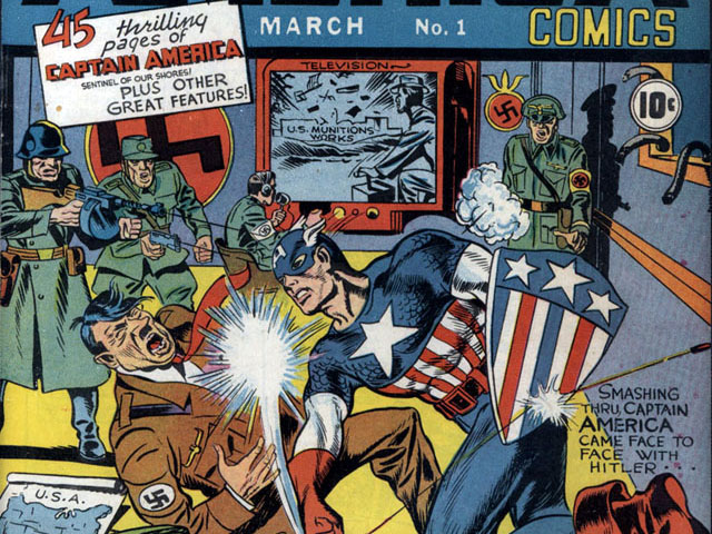 A Gallery of World War II Superhero Comic Book Covers