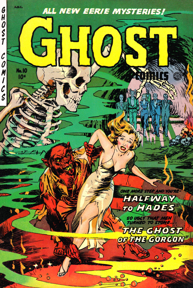 Vintage Comic Book Cover : Spooky halloween themed golden age horror comic book