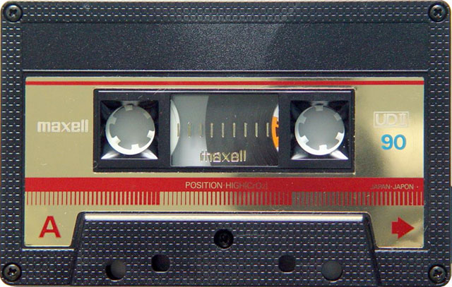 Blank audio cassette tape (Maxell)