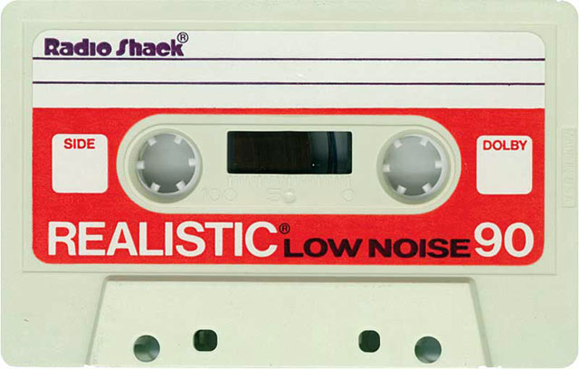 Blank audio cassette tape (Radio Shack)