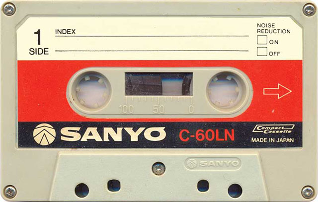 Blank audio cassette tape (Sanyo)