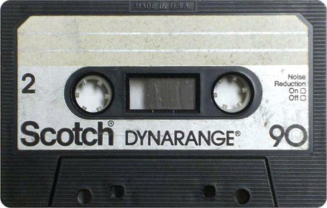 Blank audio cassette tape (Scotch)