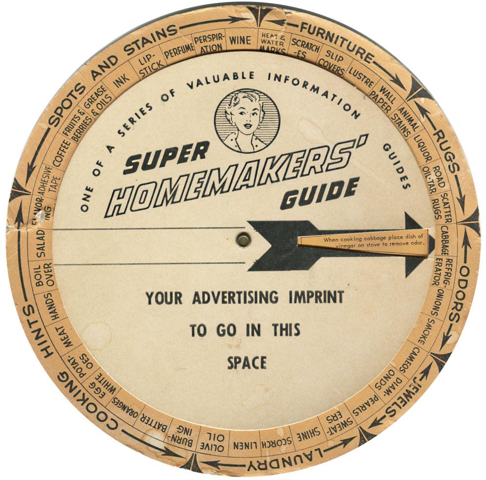 1954 Super Homemakers' Guide Volvelle