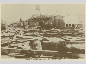 Damage from the Okeechobee hurricane (1928)