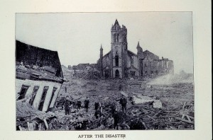 Damage from the 1900 Galveston hurricane