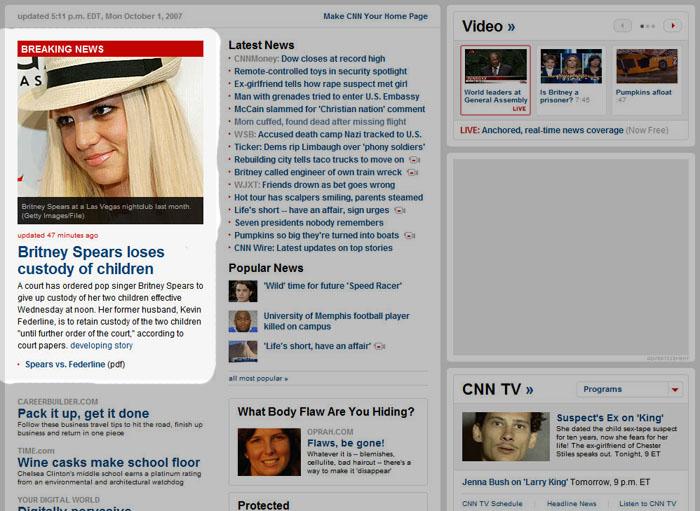 CNN Britney Spears story