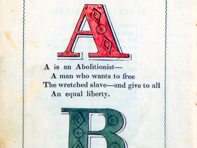 This 1846 Anti-Slavery Alphabet Is Fantastic