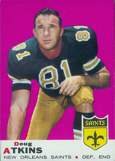 Doug Atkins 1969 Topps football card