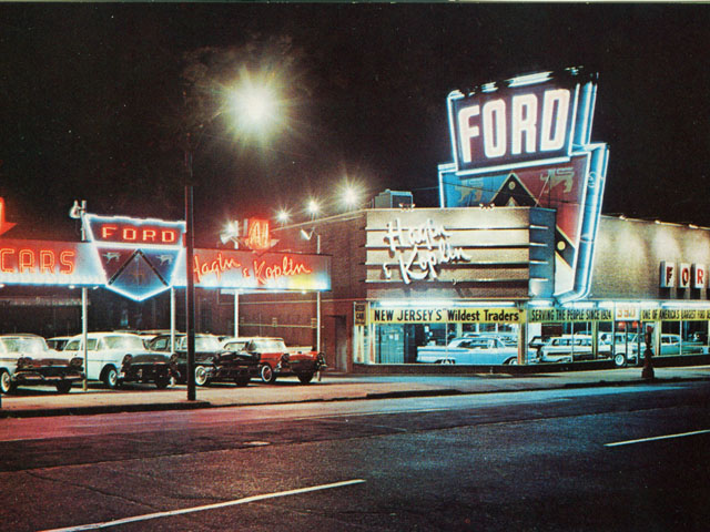 Vintage Photo Wednesday, Vol. 38: Late 1950s Ford Dealership in Newark, New Jersey