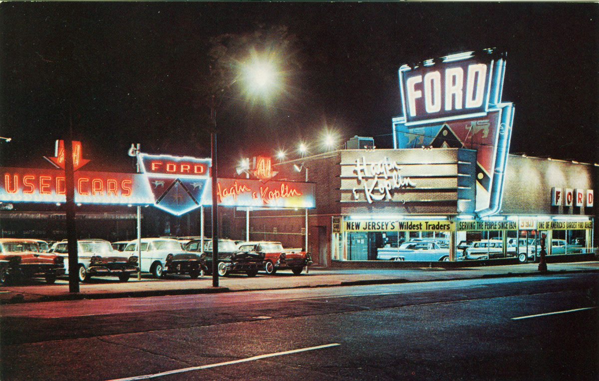 Vintage Photo of a 1950s NJ Ford Dealership | grayflannelsuit.net