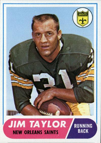 Jim Taylor 1968 Topps football card