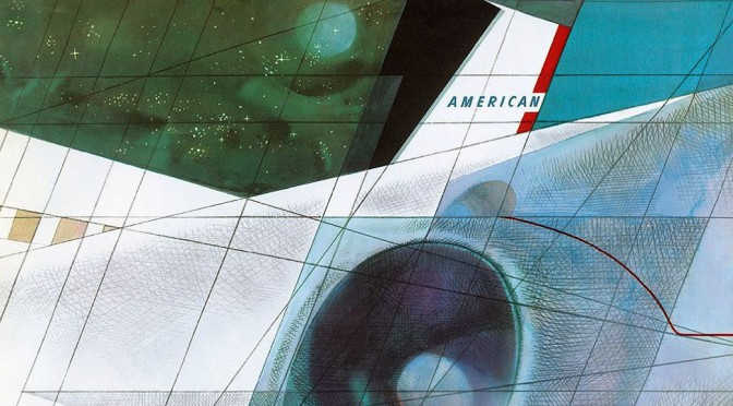 american airlines 707 poster