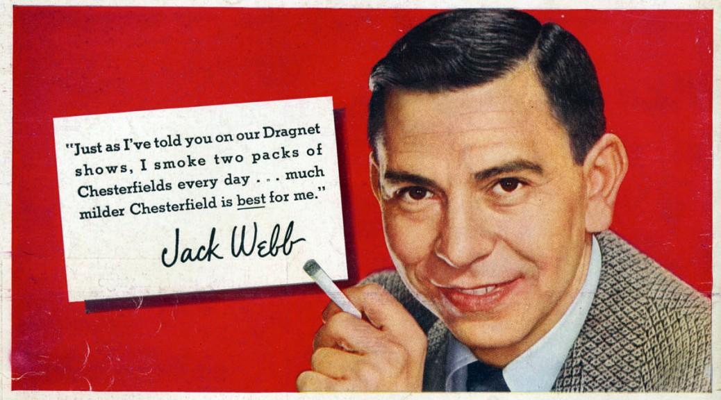 jack webb cigarette ad