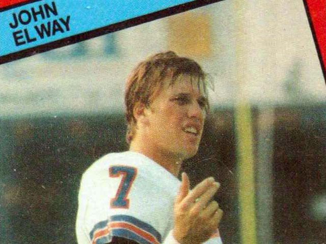 John Elway football card; 1984 Topps Denver Broncos