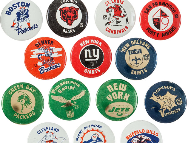 Here's Some Neat Late '60s NFL and AFL Pins