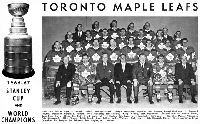 Toronto Maple Leafs 1966-67 Stanley Cup Champions