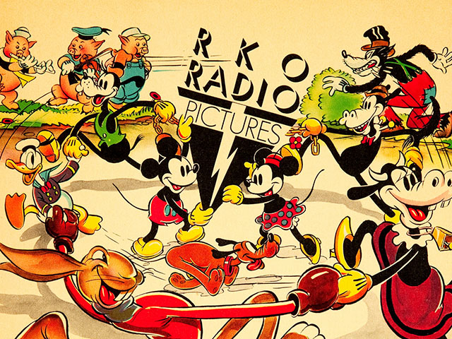 Beautiful RKO Radio Pictures Ad for Disney's Silly Symphonies