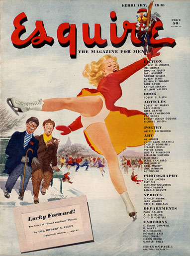 Esquire magazine cover, February 1948
