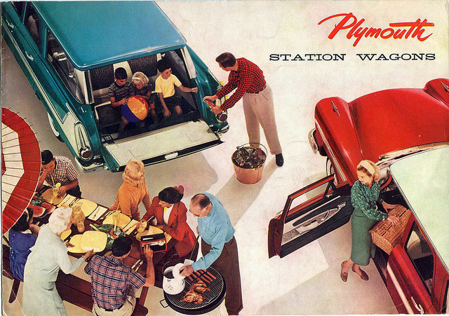 1958 Plymouth station wagon brochure cover