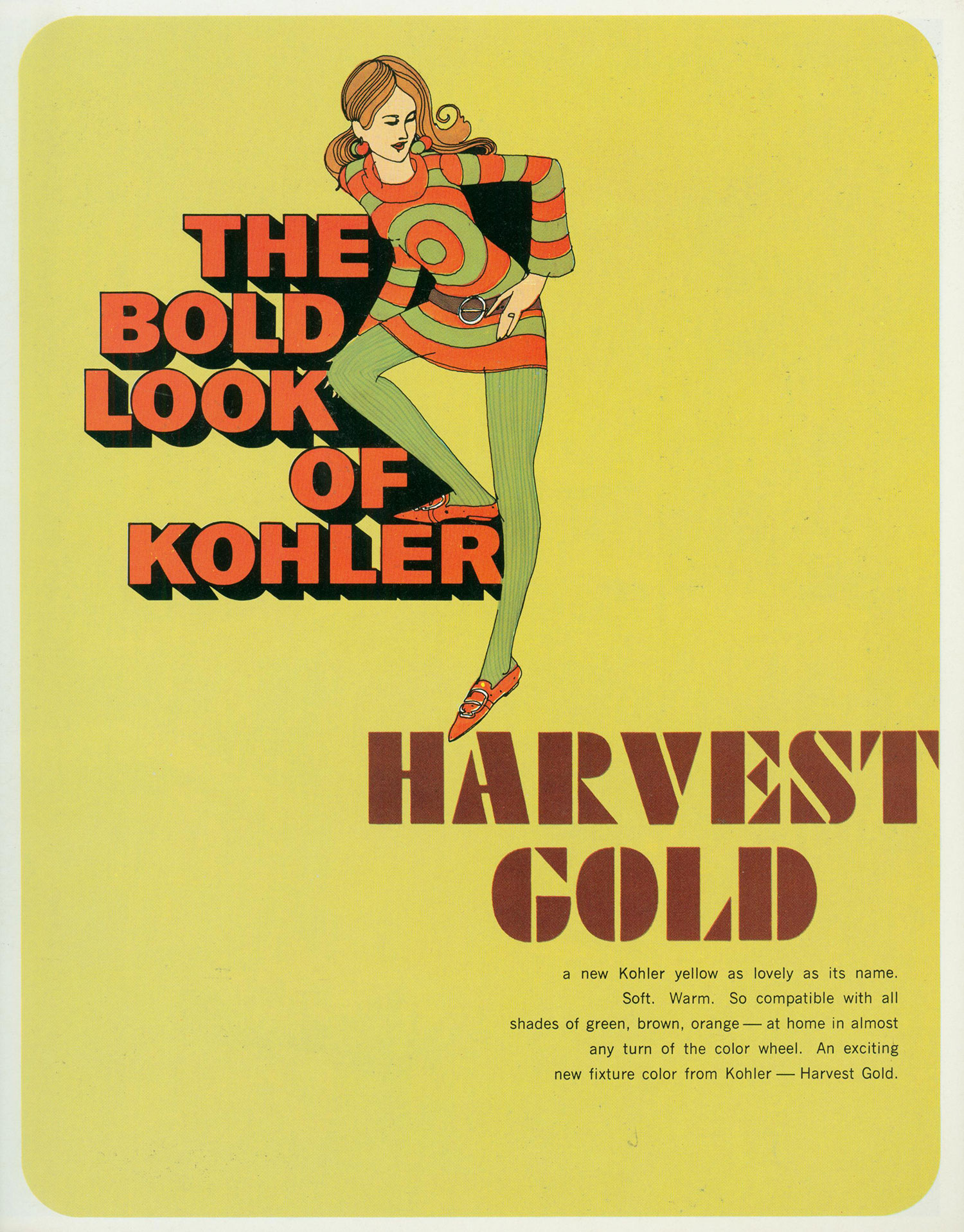 The Bold Look Of Kohler Harvest Gold 1969