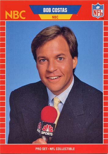 Bob Costas 1989 Pro Set football card
