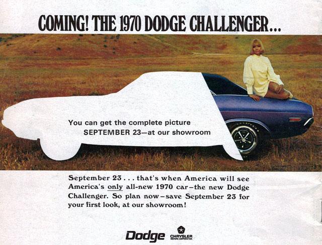 1970 Dodge Challenger ad