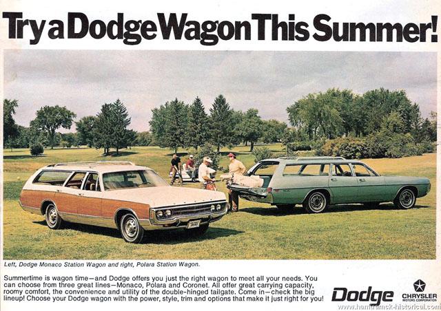 1970 Dodge Station Wagons ad