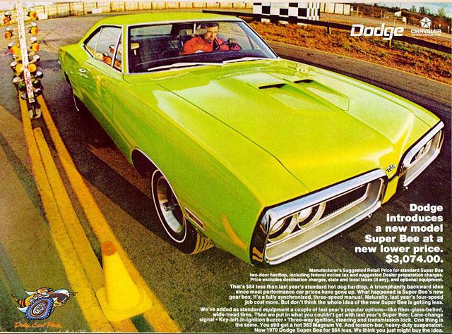 1970 Dodge Super Bee ad