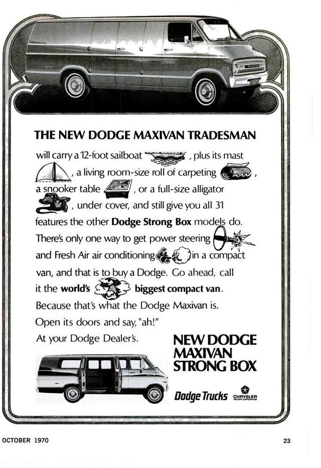 1970 Dodge Tradesman Maxivan ad