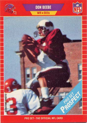 Don Beebe 1989 Pro Set football card