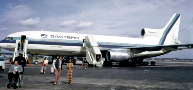 Eastern Airlines plane with logo (1974)