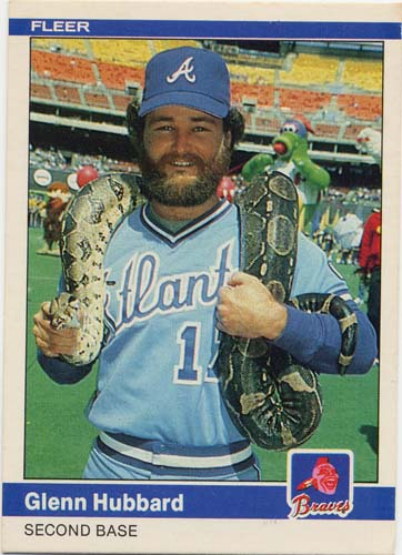 Glenn Hubbard 1984 Fleer baseball card