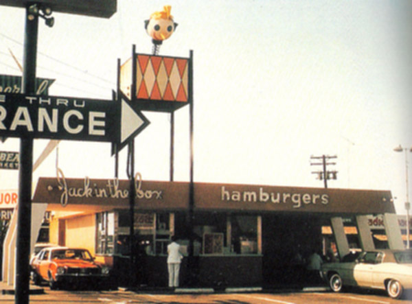 Jack in the Box burger location (designed by Russell Forester) circa 1951