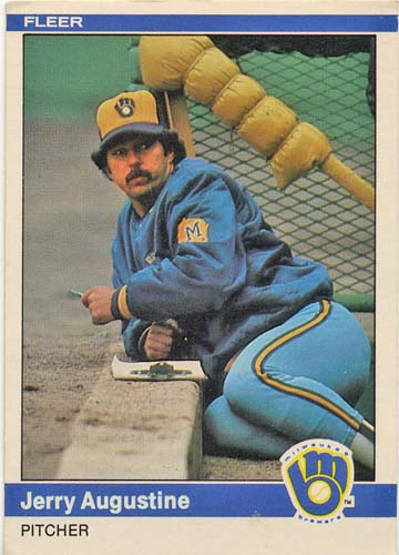 Jerry Augustine 1984 Fleer baseball card