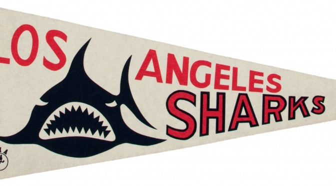 Los Angeles Sharks pennant