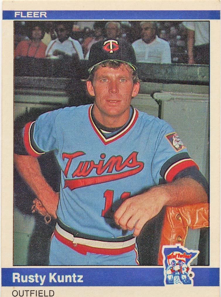 Rusty Kuntz 1984 Fleer baseball card