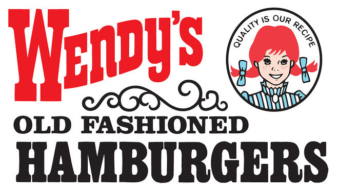 After just a few years the Wendy's logo was modified again. A yellow ...