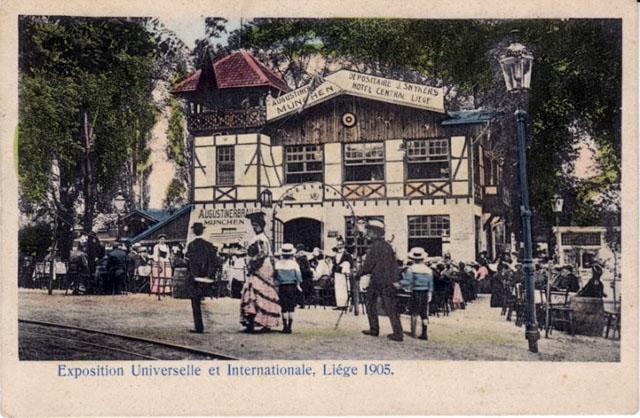 Vintage World's Fair postcard - Liège (1905)
