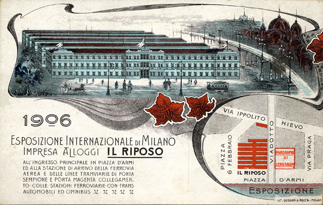Vintage World's Fair postcard - Milan (1906)